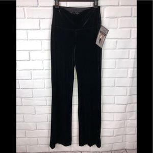 LYSSE New Black Velvet Leggings Wide Leg sz S